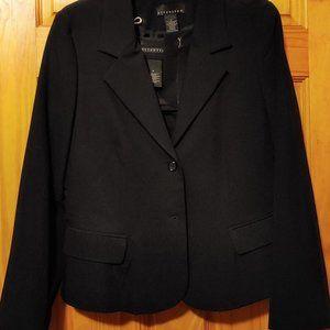 Attentic Black Suit w/Skirt Size 10/12
